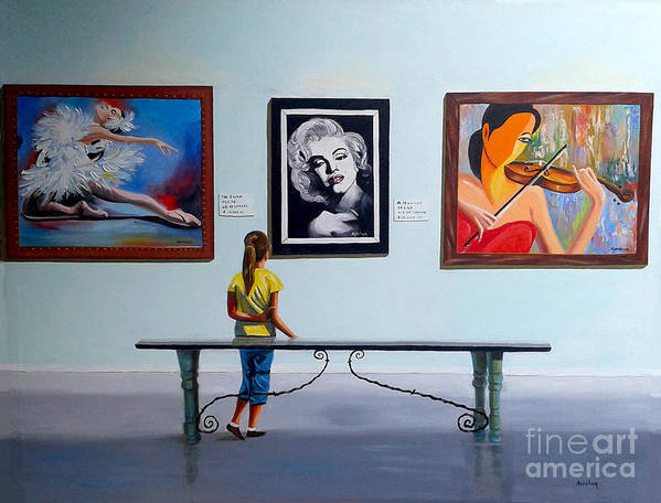 Dancing Art Print featuring the painting I want to be by Jose Manuel Abraham