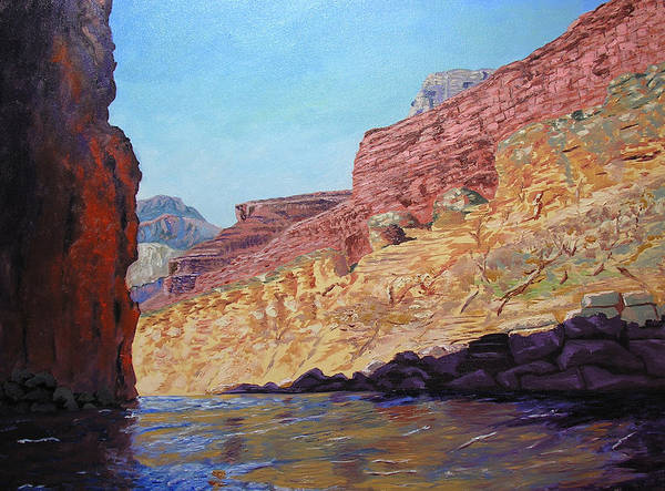 Grand Canyon Art Print featuring the painting Grand Canyon III by Stan Hamilton