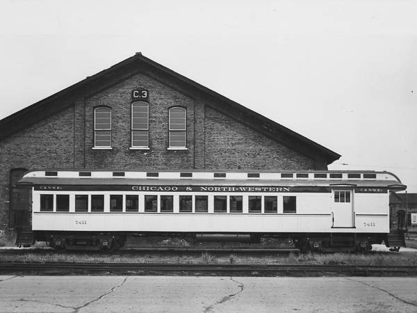 Passenger Trains Art Print featuring the photograph Refurbished Car 7411 - 1960 by Chicago and North Western Historical Society