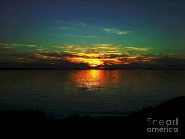 Sunset Art Print featuring the digital art Sunset by Dawn Johansen