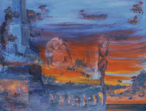 Abstract Art Print featuring the painting A Mystery Of Gods by Steve Karol