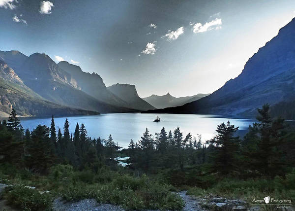 St. Mary Lake Art Print featuring the photograph Alpine Dusk by Stephanie McGuire