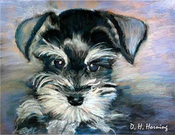 Portrait Art Print featuring the painting Annabelle by David Horning