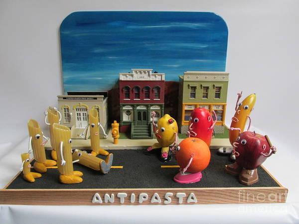 Czappa Art Print featuring the sculpture Antipasta  by Bill Czappa