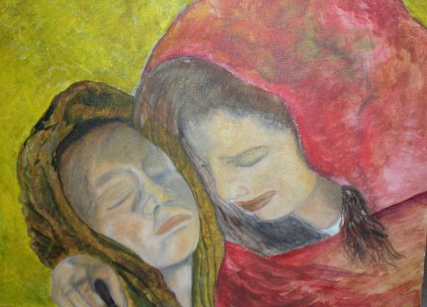 New Artist Art Print featuring the painting At Last They Sleep by J Bauer