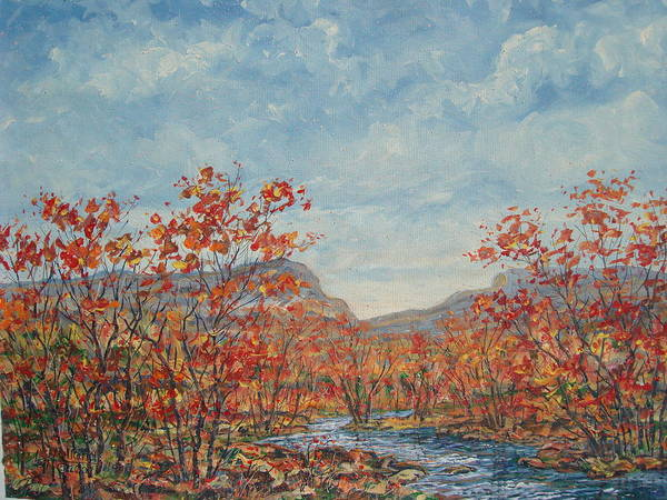 Paintings Art Print featuring the painting Autumn View. by Leonard Holland
