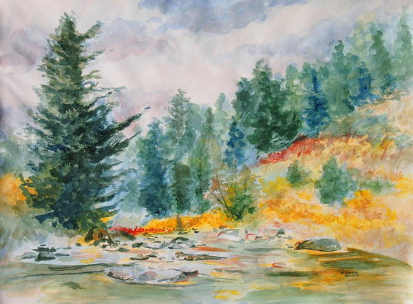 Landscape Art Print featuring the painting Afternoon in the Backcountry by Andrew Gillette