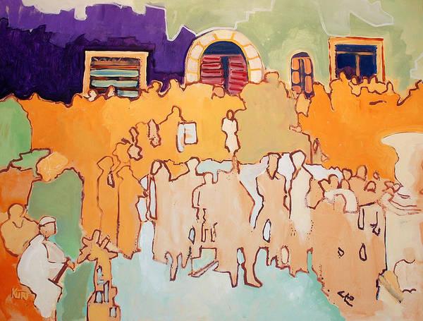 Band Art Print featuring the painting Banda di Villaggio by Kurt Hausmann