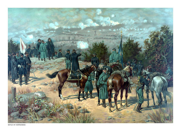 Missionary Ridge Art Print featuring the painting Battle Of Chattanooga by War Is Hell Store