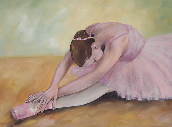 Dancer Art Print featuring the painting Before The Ballet by Torrie Smiley