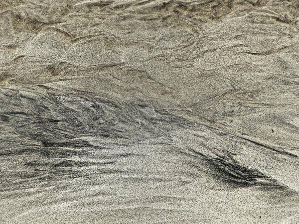 Black Art Print featuring the photograph Black White Yellow Sand, Isle Of Lewis 2017 by Chris Honeyman