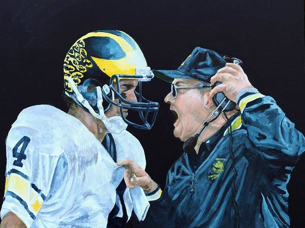 Michigan Art Print featuring the painting BO Knows by Travis Day