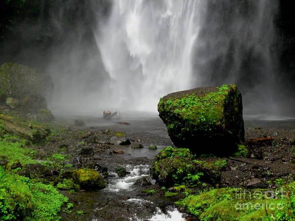 Waterfall Art Print featuring the photograph Bottom of Wakeena Falls by PJ Cloud