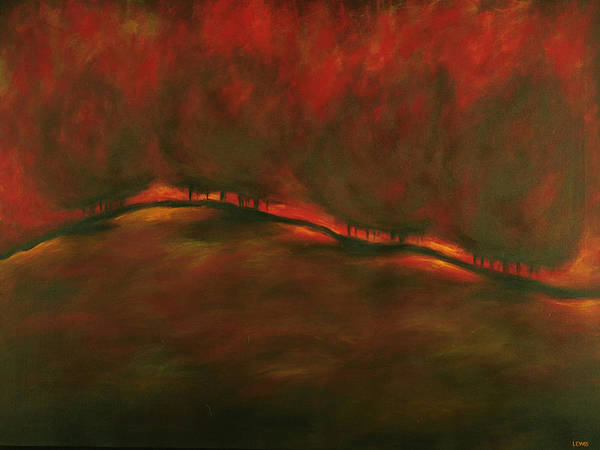 Fire Art Print featuring the painting Burn by Ellen Lewis