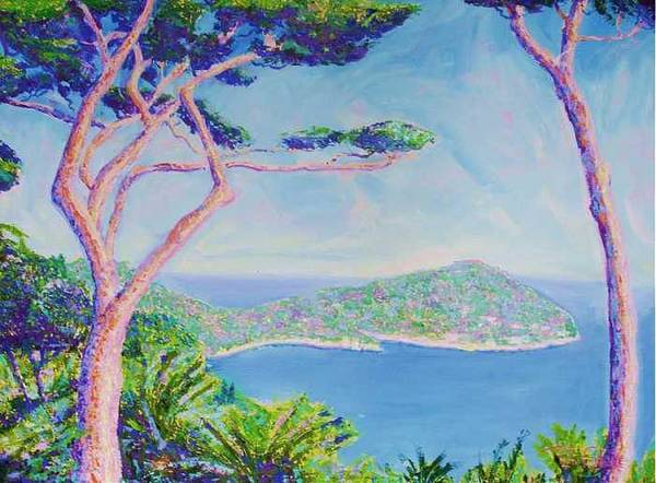 Oil Art Print featuring the painting Cap Ferat Provence by Pixie Glore