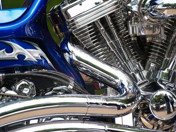 Motorcycle Art Print featuring the photograph Catch The Power by William Jones
