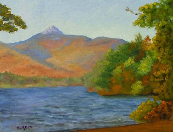 Mount Chocorua And Chocorua Lake Art Print featuring the painting Chocorua by Sharon E Allen