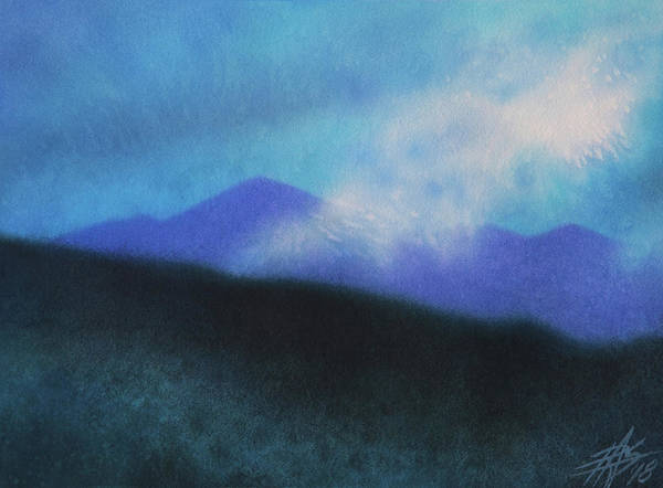 Landscape Art Print featuring the painting Cloudline III by Robin Street-Morris