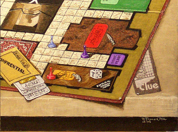 Still Life Art Print featuring the painting Clue The Case Is Solved by David Francis