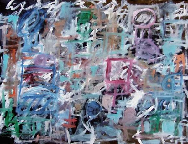 Abstract Art Print featuring the painting Composition No. 1 by Michael Henderson