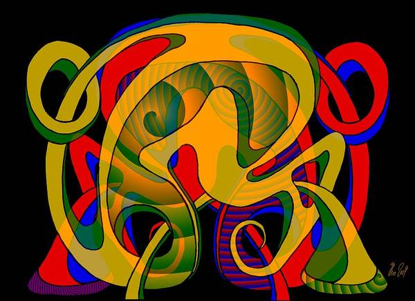 Life Art Print featuring the digital art Corresponding independent Lifes by Helmut Rottler