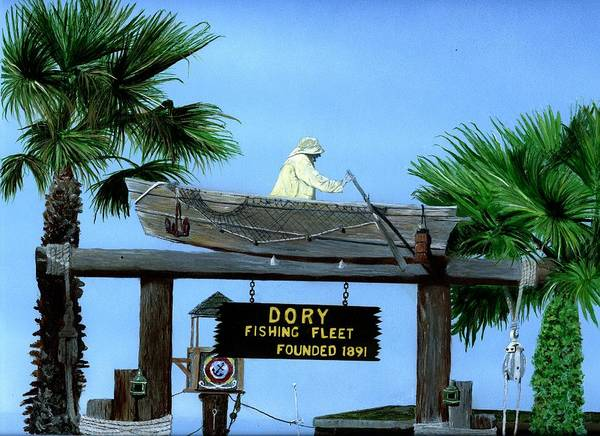 Dorry Fleet Art Print featuring the painting Dory Fleet by Charles Parks