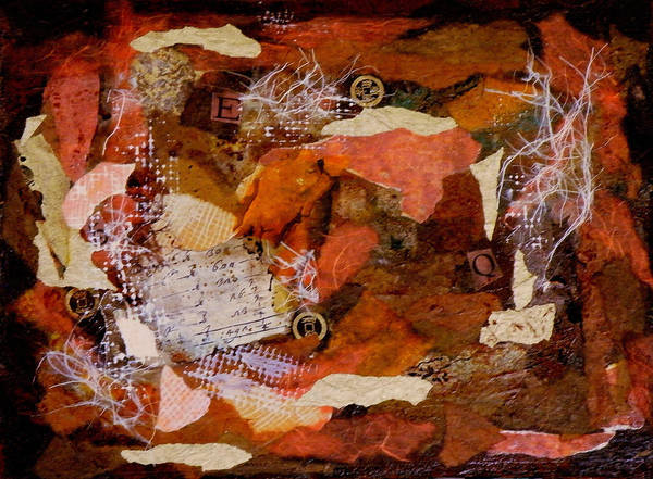 Mixed Media Art Print featuring the painting EQ Waiting for the Shoe by Tara Milliken