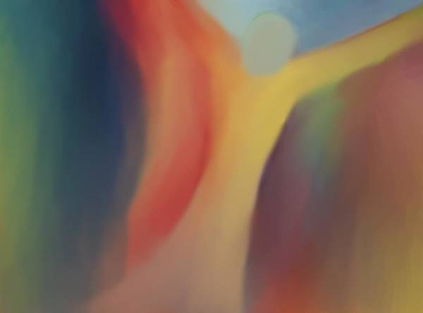 Abstract Art Print featuring the painting Floating by Peter Shor