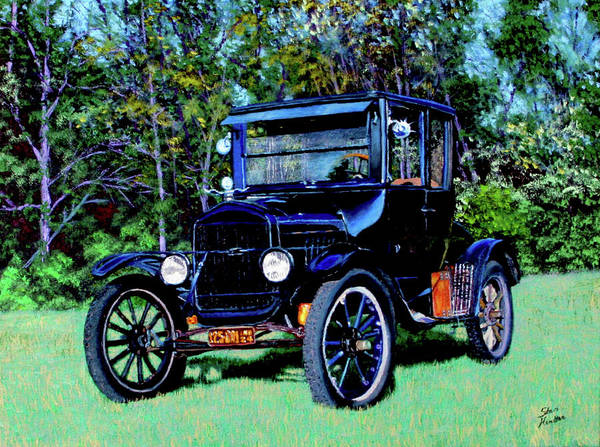 Ford Art Print featuring the painting Ford Model T by Stan Hamilton