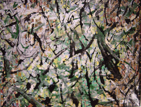 Art Print featuring the painting Forest by Biagio Civale