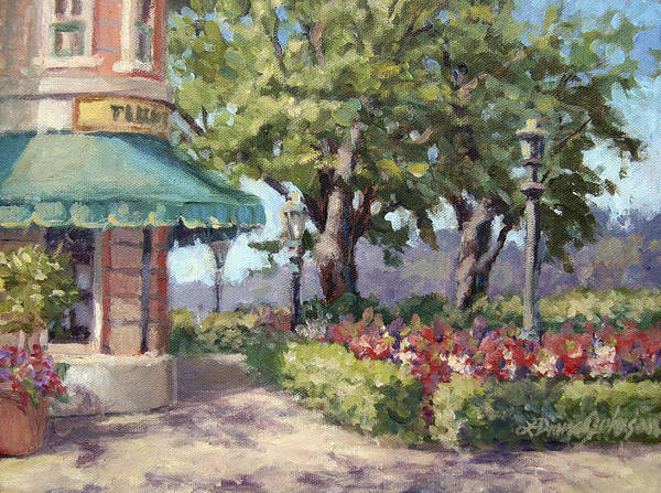 Epcot Art Print featuring the painting French Stroll by L Diane Johnson