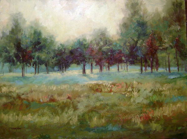 Country Scenes Art Print featuring the painting From the Other Side by Ginger Concepcion