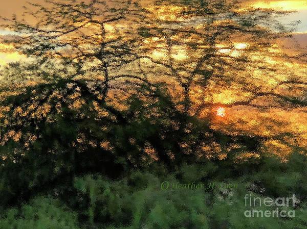 Sunset Art Print featuring the photograph Glass Sunset Hawaii by Heather Coen