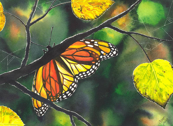 Butterfly Art Print featuring the painting Glow by Catherine G McElroy