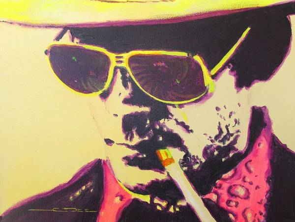 Hunter S. Thompson Art Print featuring the painting Gonzo - Hunter S. Thompson by Eric Dee