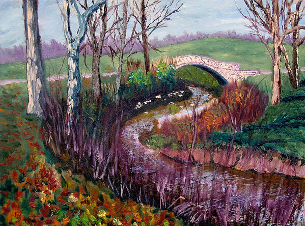Landscape Art Print featuring the painting Gp 11-22 by Stan Hamilton
