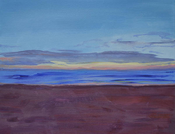 Beach Art Print featuring the painting Graham's Beach by Mary Chant