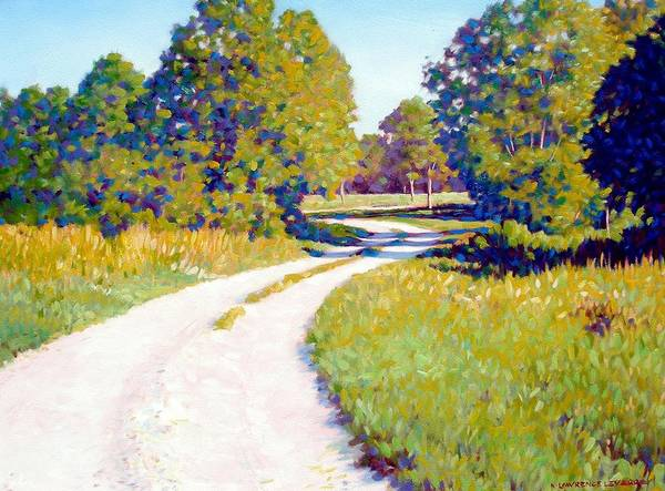 Landscape Art Print featuring the painting Gravel Road by Kevin Lawrence Leveque