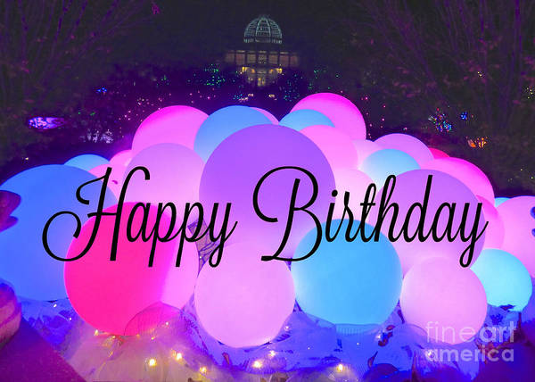 Birthday Art Print featuring the photograph Happy Birthday Bubbles by Jean Wright