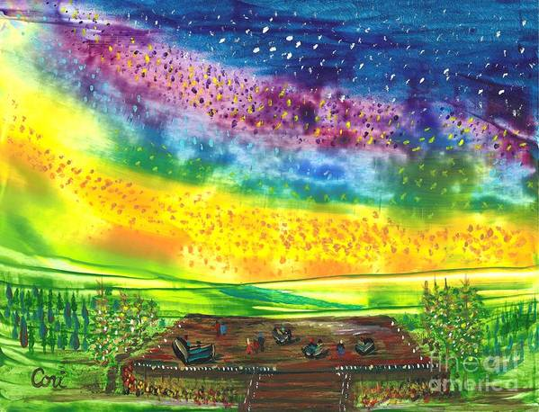 What Get For Art Print featuring the painting Happy Hour by Corinne Carroll