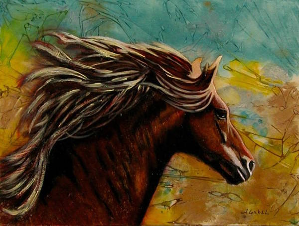 Painting Art Print featuring the painting Horse in Heaven by Laura Gabel