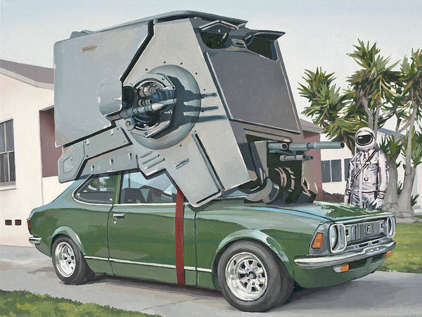 Astronaut Art Print featuring the painting Hybrid Vehicle by Scott Listfield