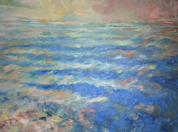 Seascape Art Print featuring the painting Infinity 1 by Marilyn Muller