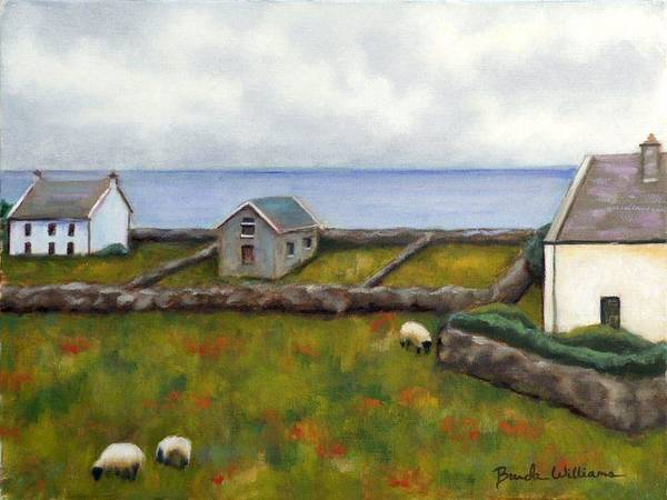 Oil Art Print featuring the painting Inishmore Island by Brenda Williams