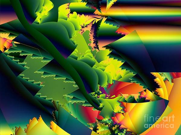 Praying Mantis Art Print featuring the digital art Jaws of the Mantis by Ron Bissett