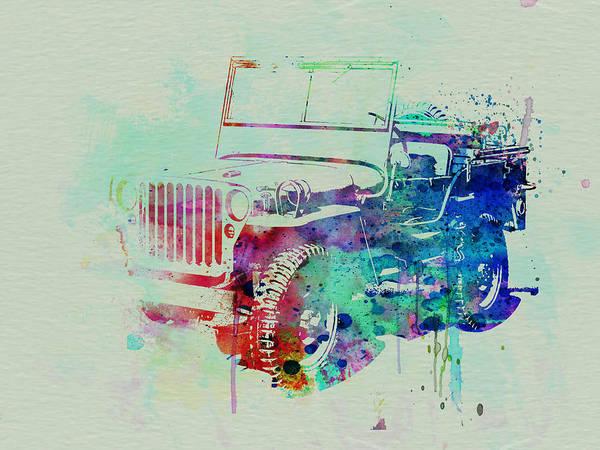 Willis Art Print featuring the painting Jeep Willis by Naxart Studio