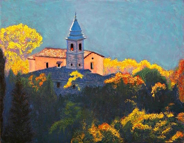 Landscape Art Print featuring the pastel Joyful Morning by Laura Gabel