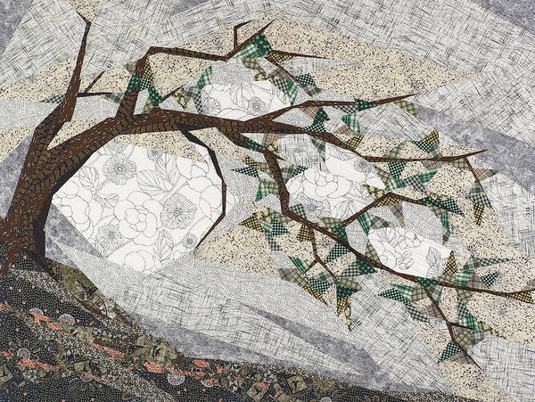 Tree Art Print featuring the tapestry - textile Krummholz by Linda Beach