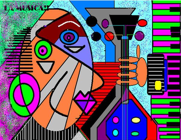 Music Art Print featuring the digital art La Musica by George Pasini