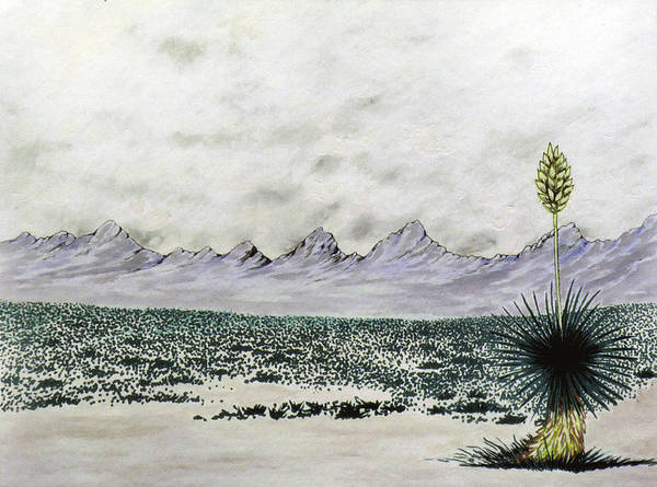 Desertscape Art Print featuring the painting Land of Enchantment by Marco Morales